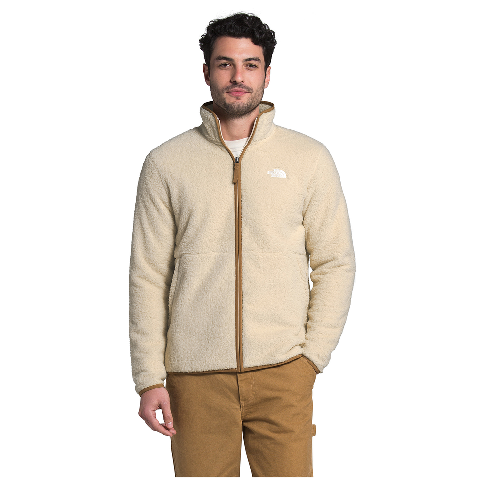 The North Face Dunraven Sherpa Full-Zip Jacket - Mens / Bleached Sand/Utility Brown