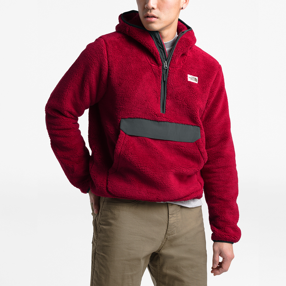 The North Face Campshire Sherpa Pullover - Mens / Cardinal Red/Asphalt Grey | Past Season Product