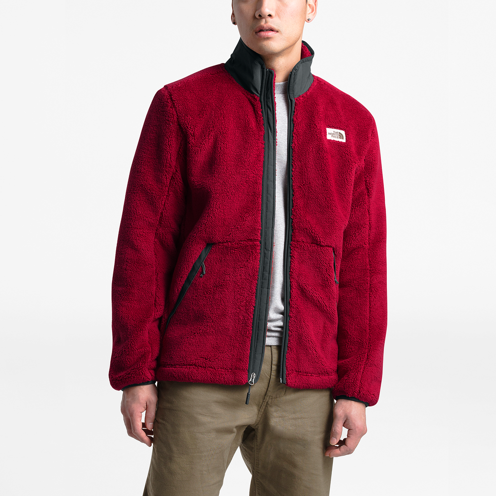 The North Face Campshire Sherpa Full-Zip Jacket - Mens / Cardinal Red/Asphalt Grey | Past Season Product