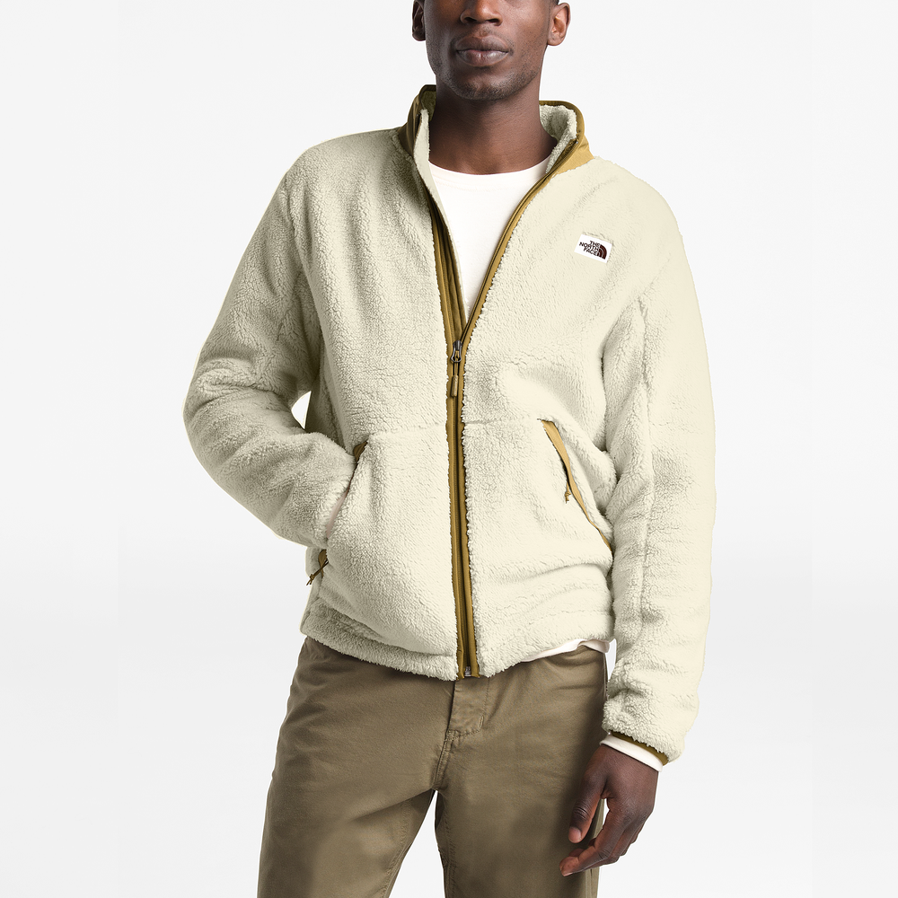 The North Face Campshire Sherpa Full-Zip Jacket - Mens / Vintage White/British Khaki | Past Season Product