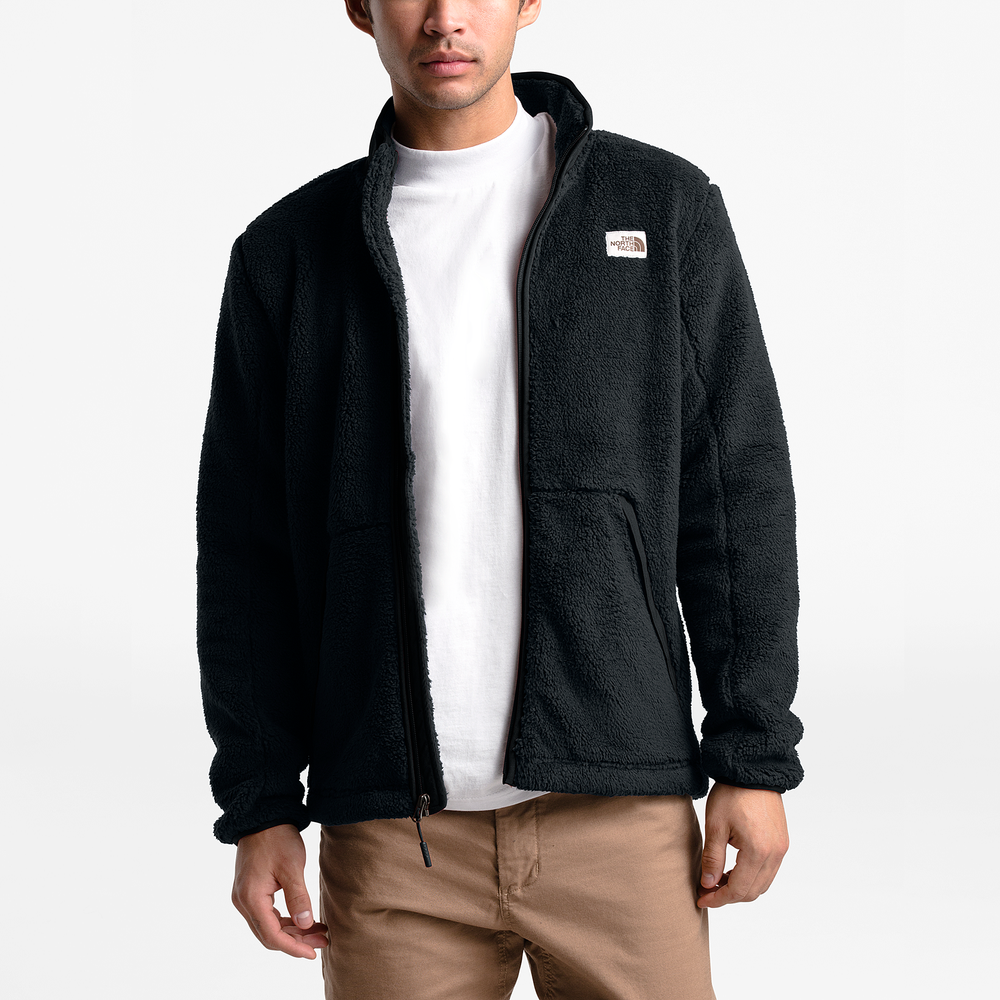 The North Face Campshire Sherpa Full-Zip Jacket - Mens / Tnf Black | Past Season Product