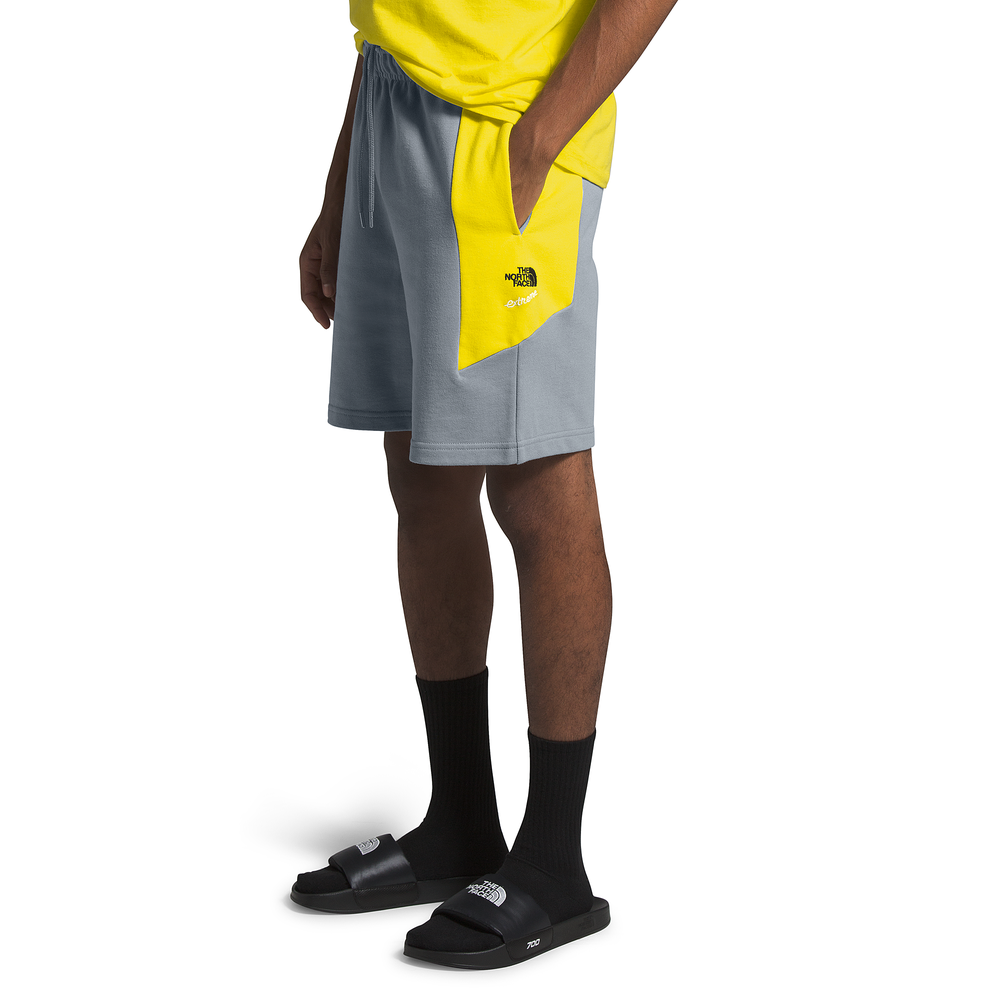The North Face Extreme 2 Fleece Shorts - Mens / Grey/Yellow