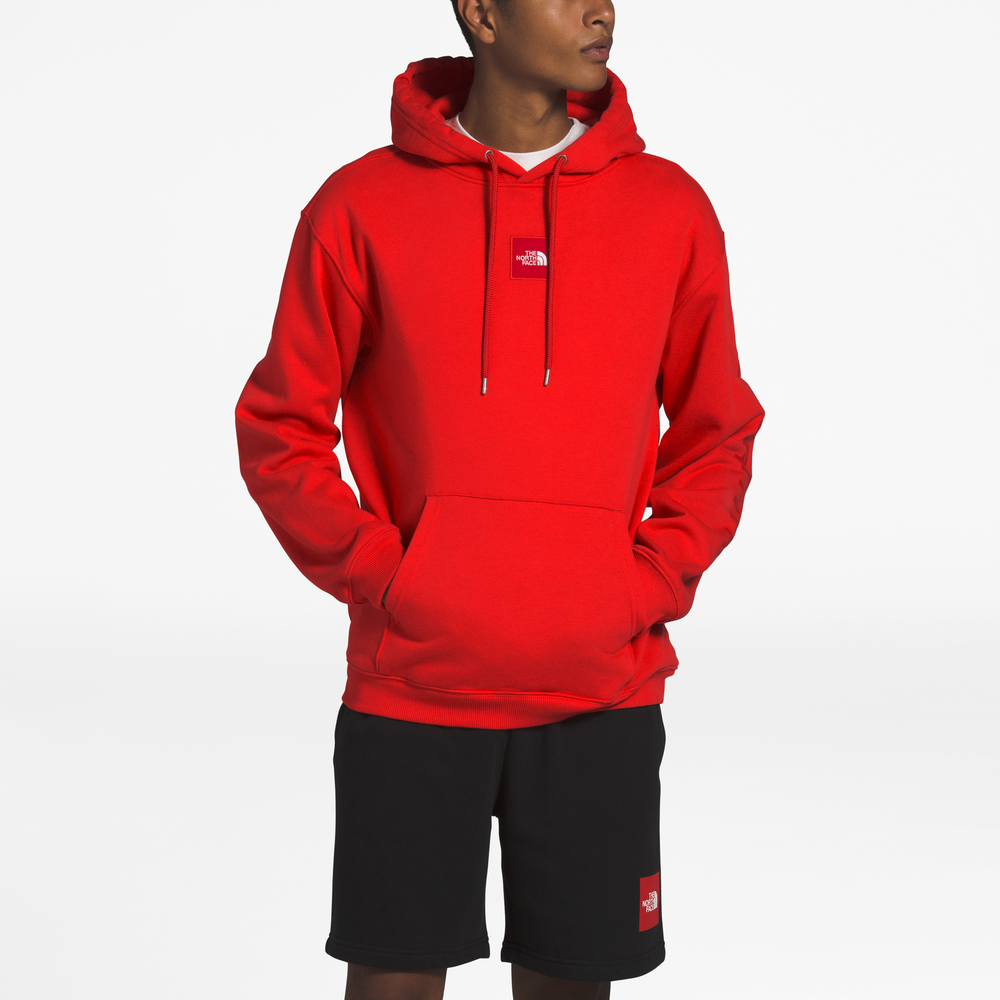 The North Face Box Drop Hoodie - Mens / Red/White