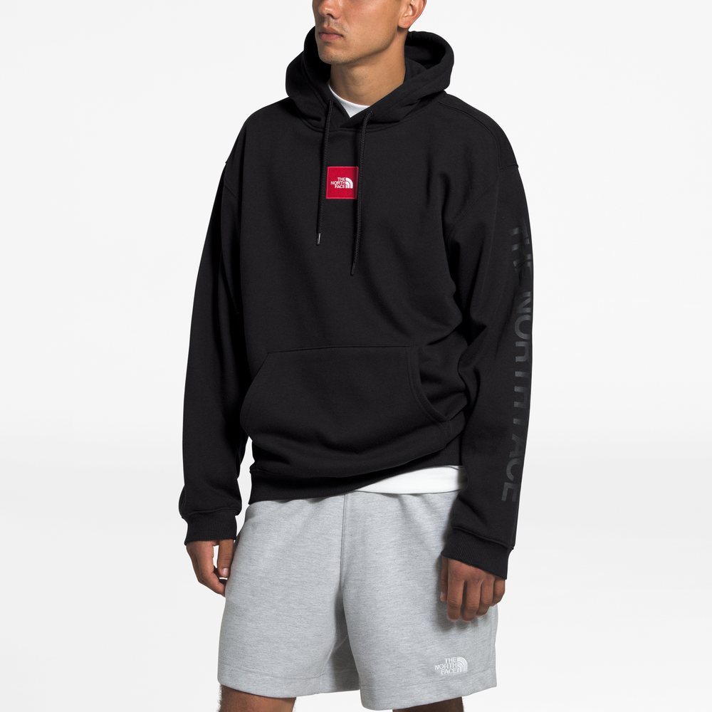 The North Face Box Drop Hoodie - Mens / Black/Red
