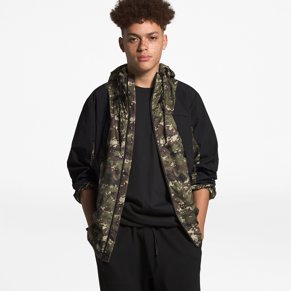 The North Face Peril Wind Jacket - Mens / Burnt Olive Camo