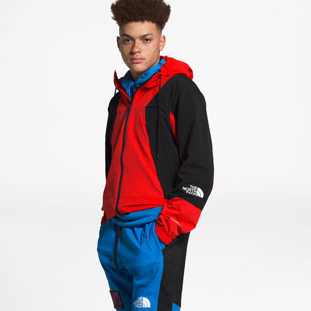 The North Face Peril Wind Jacket - Mens / Fiery Red/Tnf Black