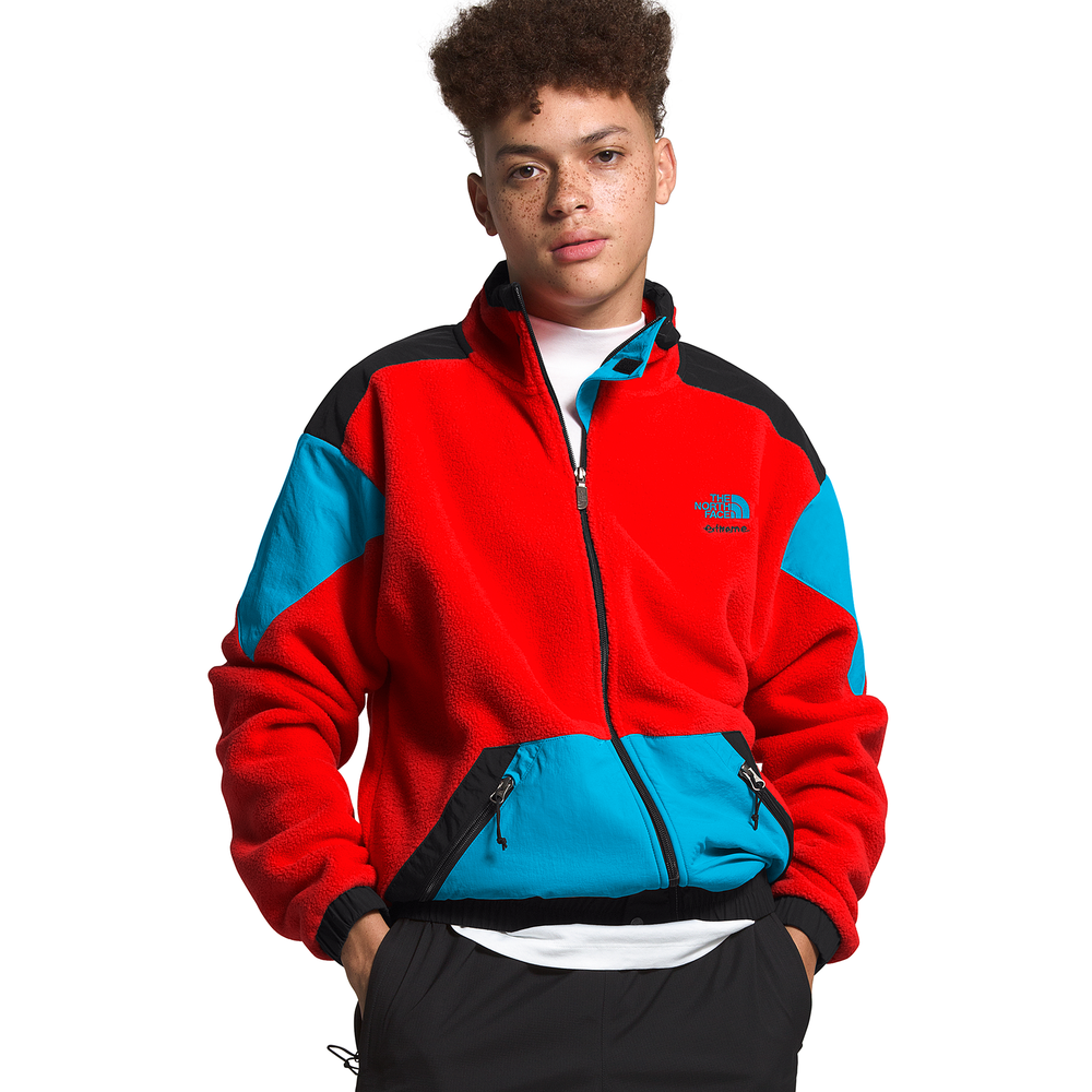 The North Face Extreme Full-Zip Fleece Jacket - Mens / Red/Blue/Blue