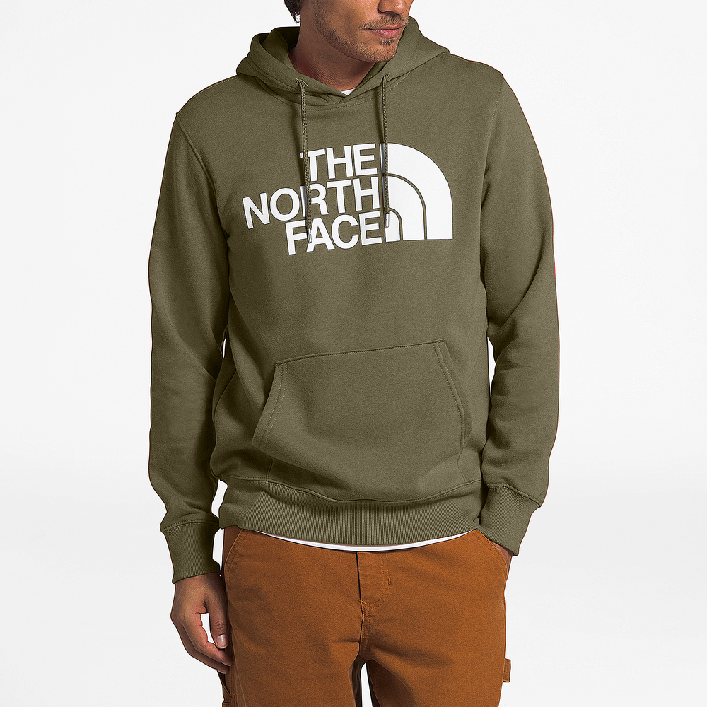 The North Face Half Dome Hoodie - Mens / Burnt Olive Green