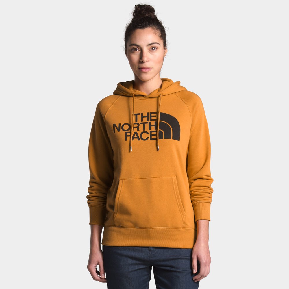 The North Face Half Dome Pullover Hoodie - Womens / Citrine Yellow/Tnf Black