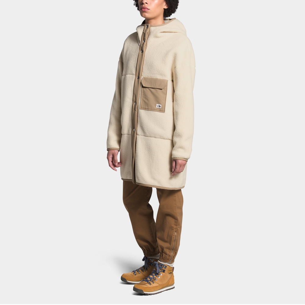 The North Face Cragmont Fleece Coat - Womens / Bleached Sand/Hawthorne Khaki