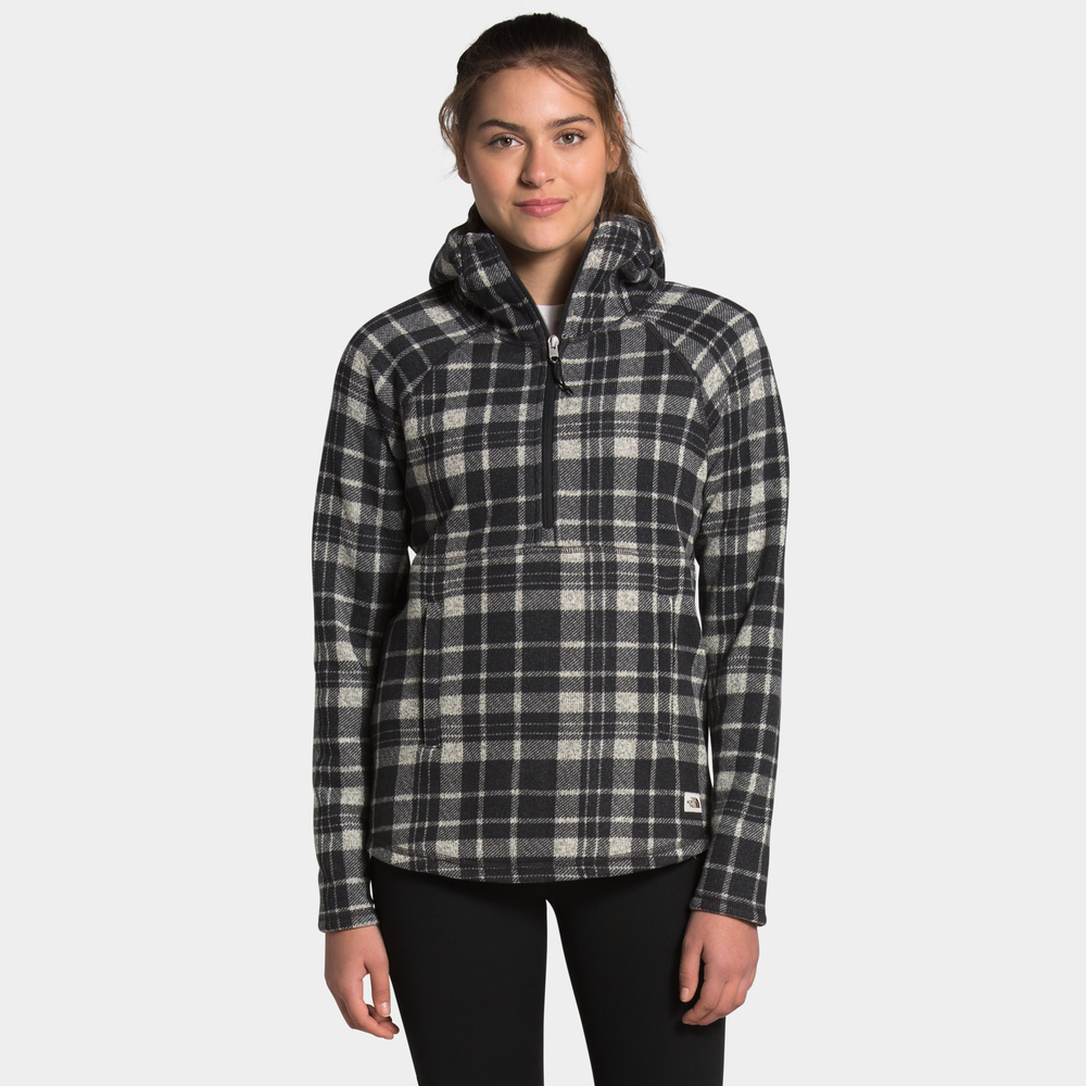 The North Face Printed Crescent Hooded Pullover - Womens / Vintage White | Heritage 2 Plaid Print