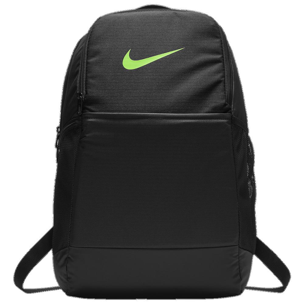 Nike Brasilia Medium Backpack / Black/Lime Blast