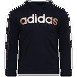 adidas Linear Hooded Long Sleeve T-Shirt - Boys' Preschool