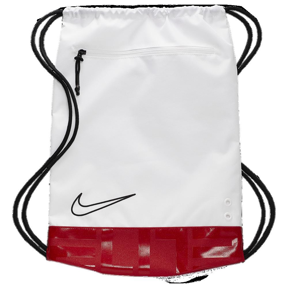 Nike Hoops Elite Gymsack / White/University Red/Black