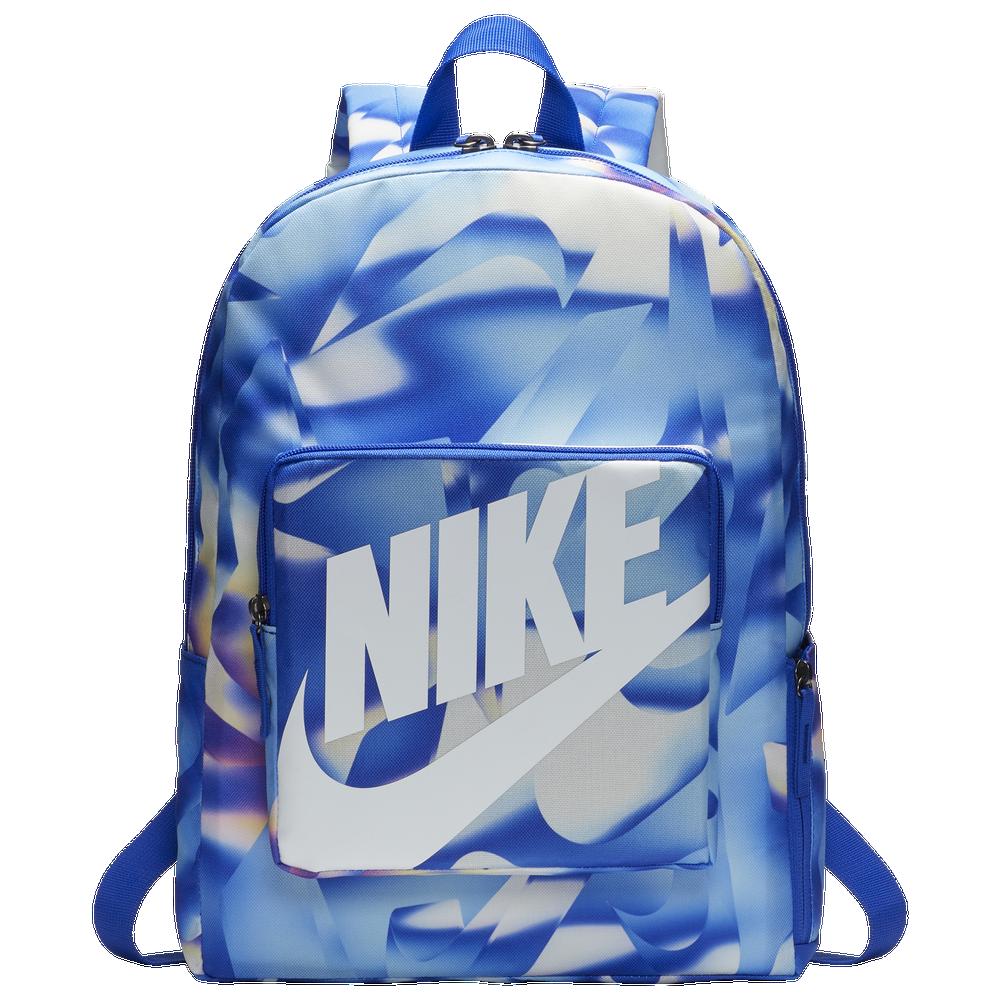 Nike Classic AOP Backpack / Racer Blue/White