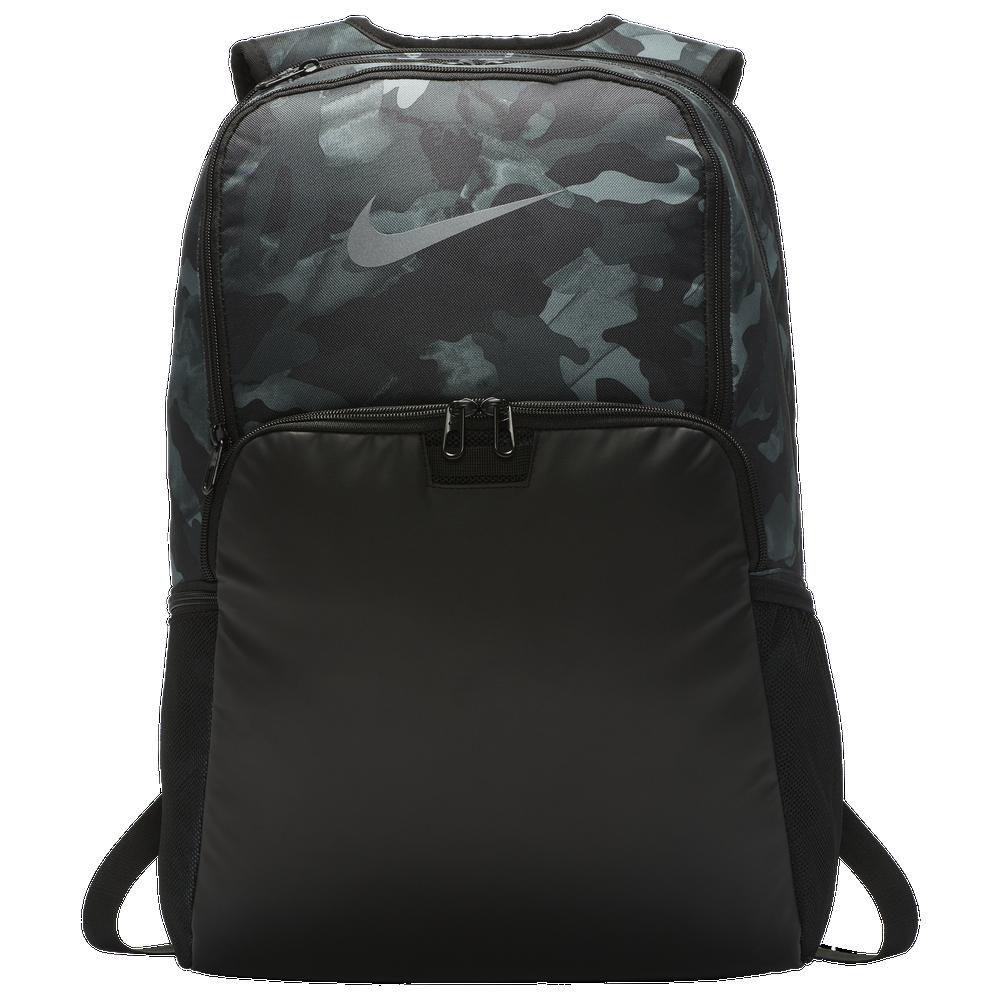 Nike Brasilia X-Large Backpack / Light Smoke Grey/Black/Metallic Cool Grey | Camo