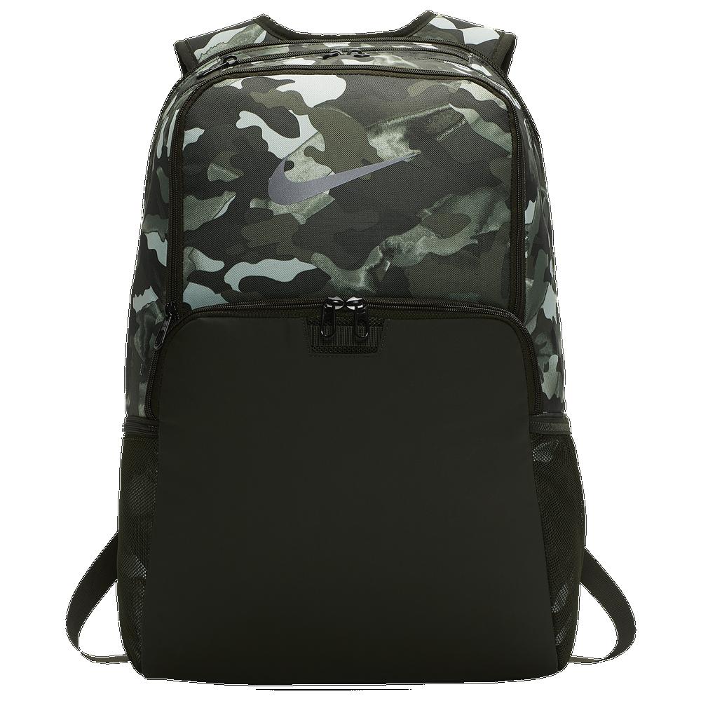 Nike Brasilia X-Large Backpack / White/Metallic Cool Grey | Camo