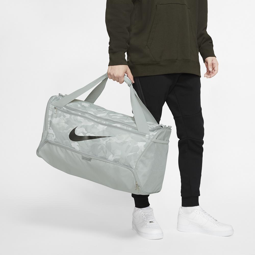 Nike Brasilia Medium Duffel / Light Smoke Grey/Cool Grey