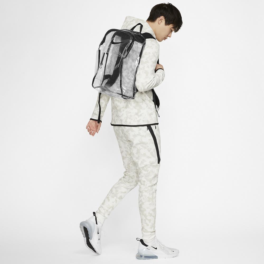 Nike Brasilia Clear Backpack / Clear/Black