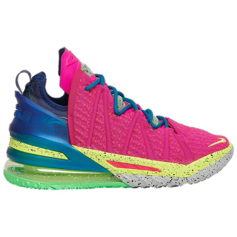 Nike LeBron 18 - Mens / Lebron James | Pink Prime/Multi/Blue