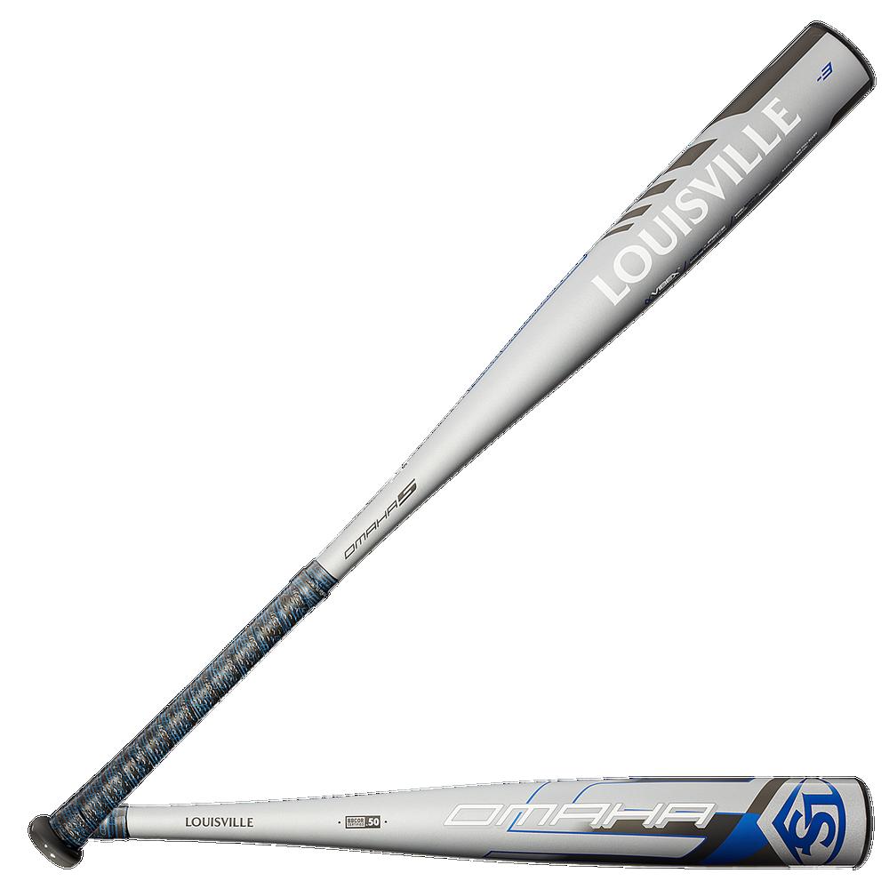 Louisville Slugger Omaha BBCOR Baseball Bat - Mens / Silver   End Load/ -3oz / 2 5/8