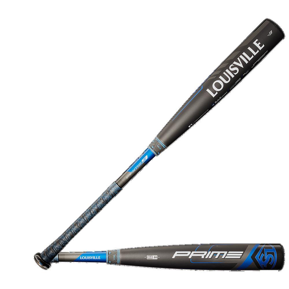 Louisville Slugger Prime BBCOR Baseball Bat - Mens / Black/Blue   Balanced/ -3oz/ 2 5/8