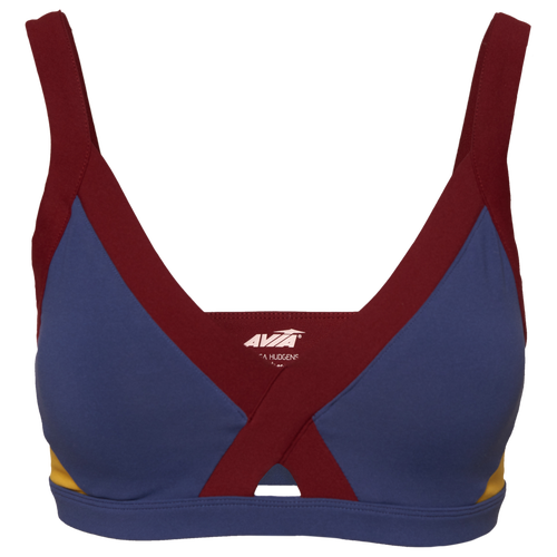 Train comfortably in style with Avia\\\'s Uppercut Sports Bra. Great for low-impact activities. Includes two layers of breathable mesh lining. 85% polyester/15% spandex. Imported.