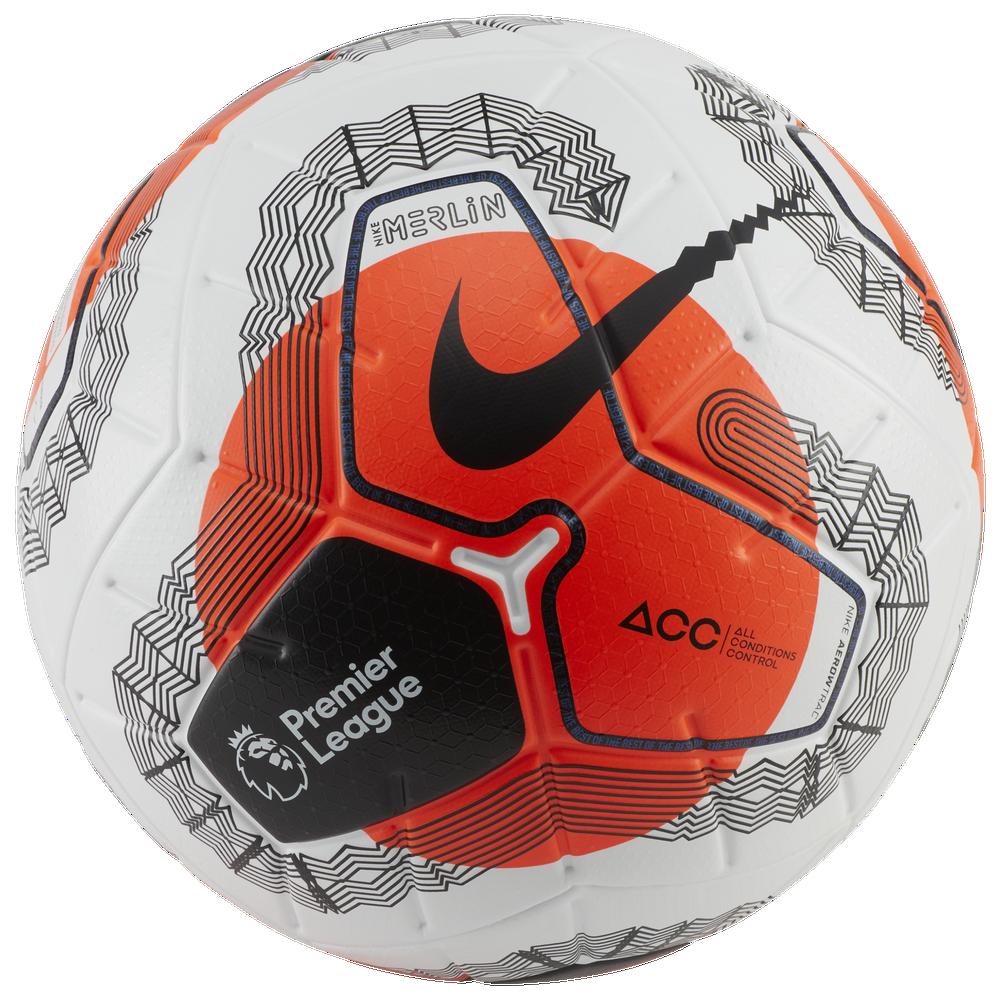 Nike Merlin Soccer Ball / White/Hyper Crimson/Black