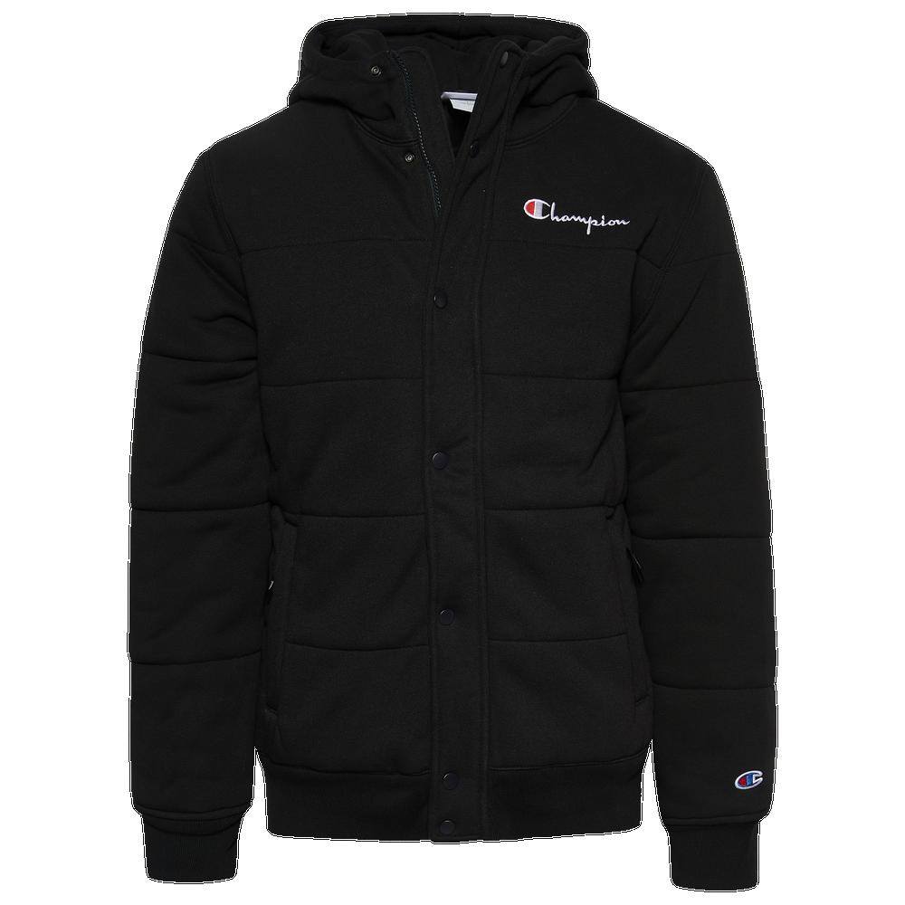 Champion Reverse Weave Puffer Jacket - Mens / Black/White