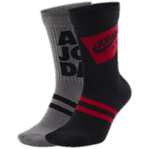 Jordan Socks JORDAN JUMPMAN CLASSIC LEGACY CREW SOCKS 2 PACK