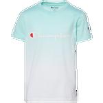 Champion Dip Dye Logo Script T-Shirt - Boys' Grade School
