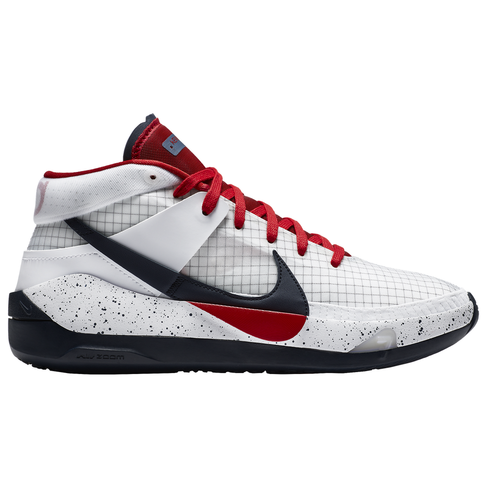 Nike KD 13 - Boys Grade School / White/Sport Red/Obsidian