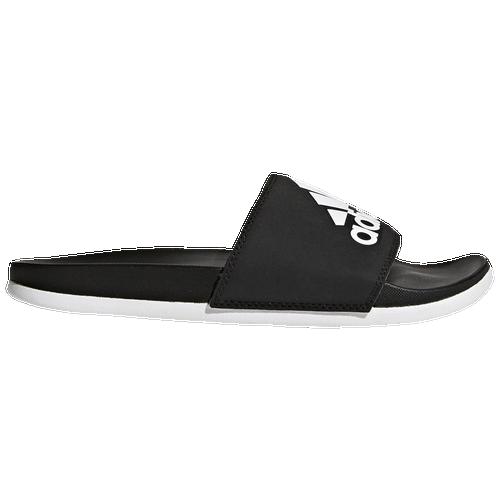 Adidas Originals Adidas Women's Adilette Comfort Slide Sandals In Core Black/white/core Black