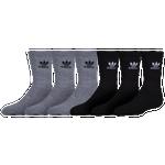 adidas Originals Trefoil 6-Pack Crew Socks - Boys' Grade School