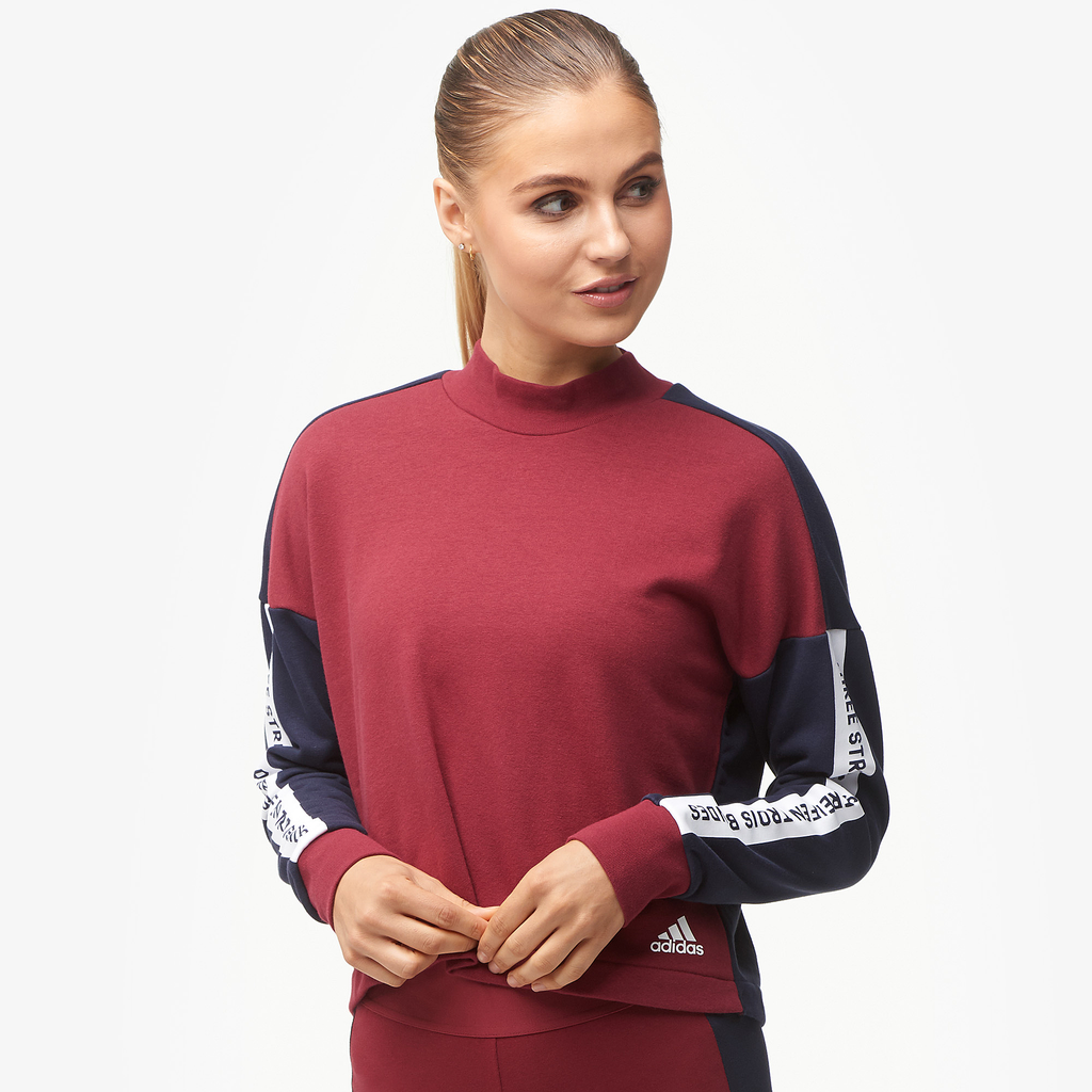 Adidas Athletics Sport Id 3 Stripe Sweatshirt by Eastbay