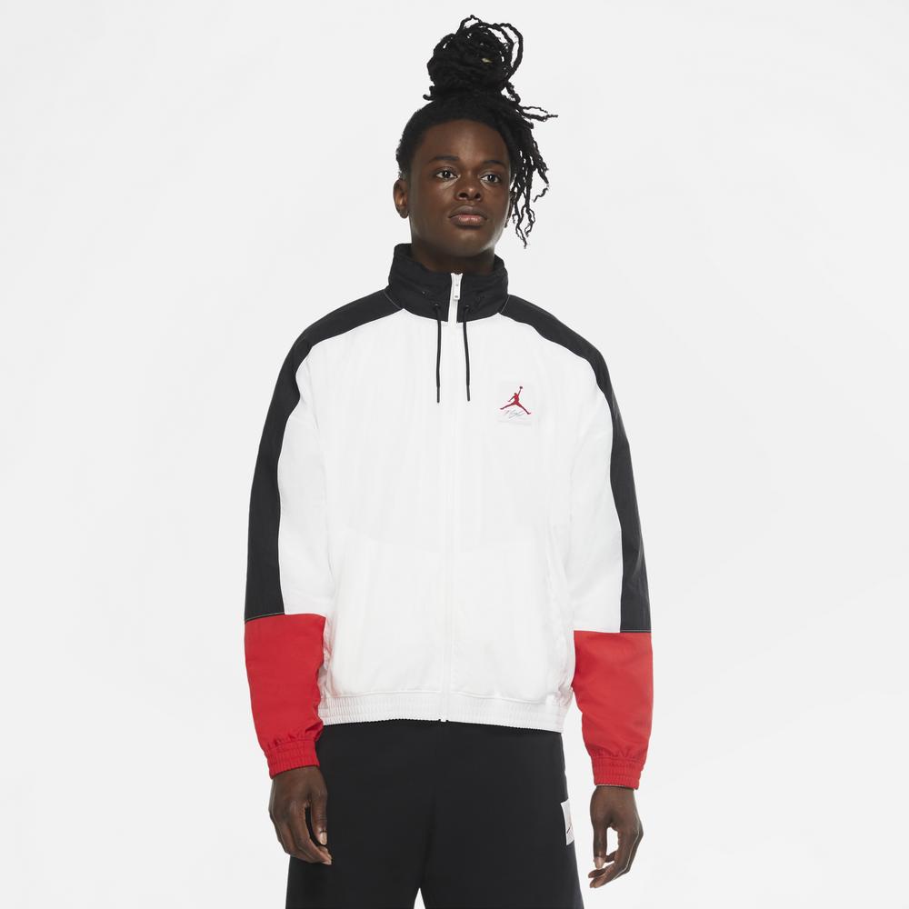 Jordan Retro 4 Lightweight Jacket - Mens / White/Black/University Red