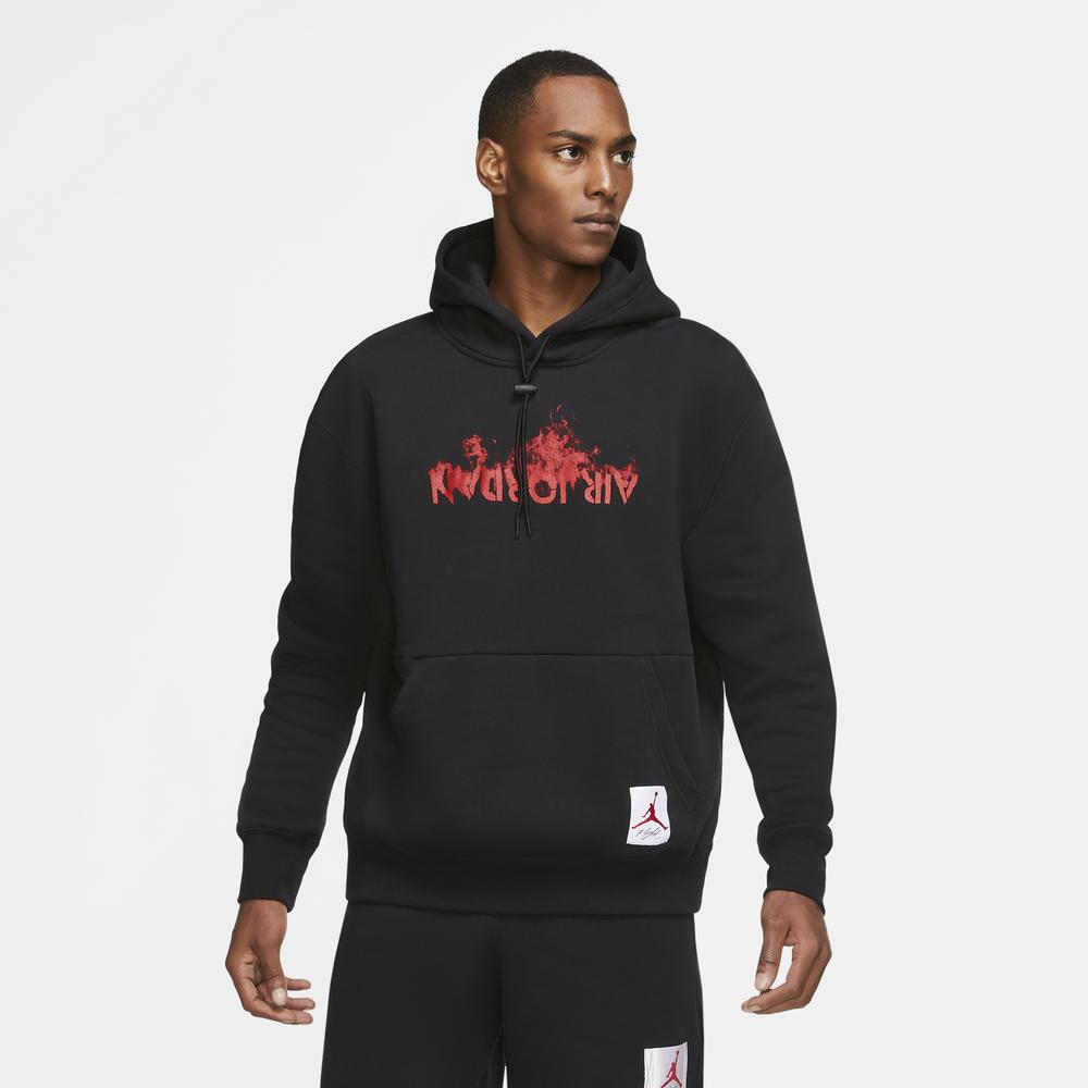 Jordan Retro 4 GFX Hoodie - Mens / Black/University Red