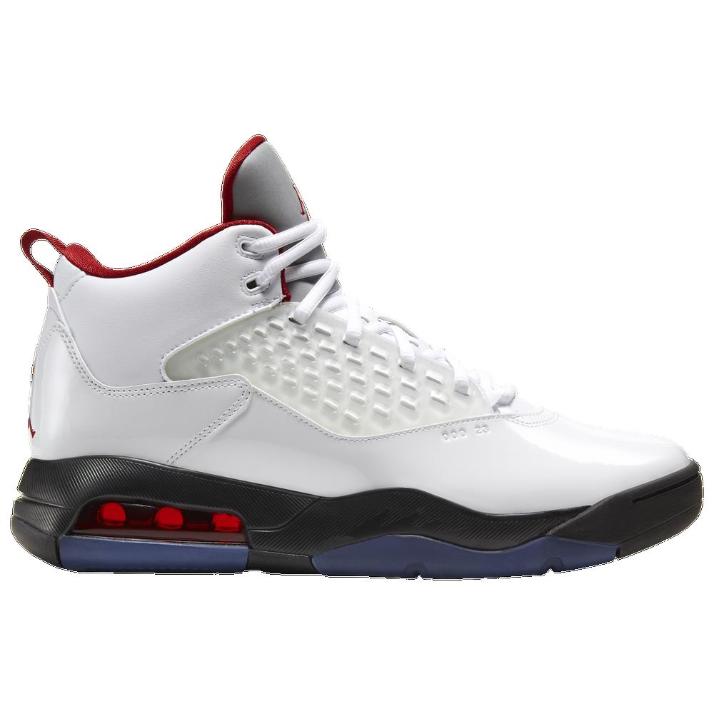 Jordan Maxin 200 - Mens / White/Gym Red/Black/Reflect Silver