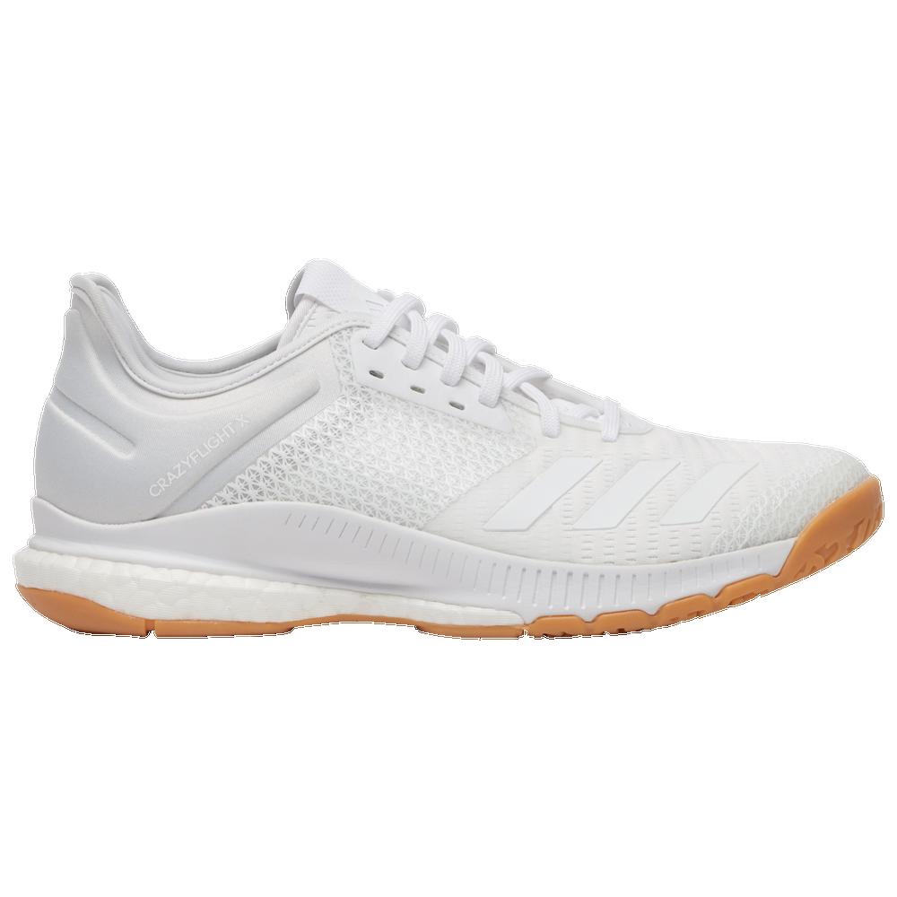 adidas Crazyflight X 3 - Womens / White/White/Gum