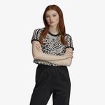 adidas Originals Animal Print Cropped T-Shirt - Women's