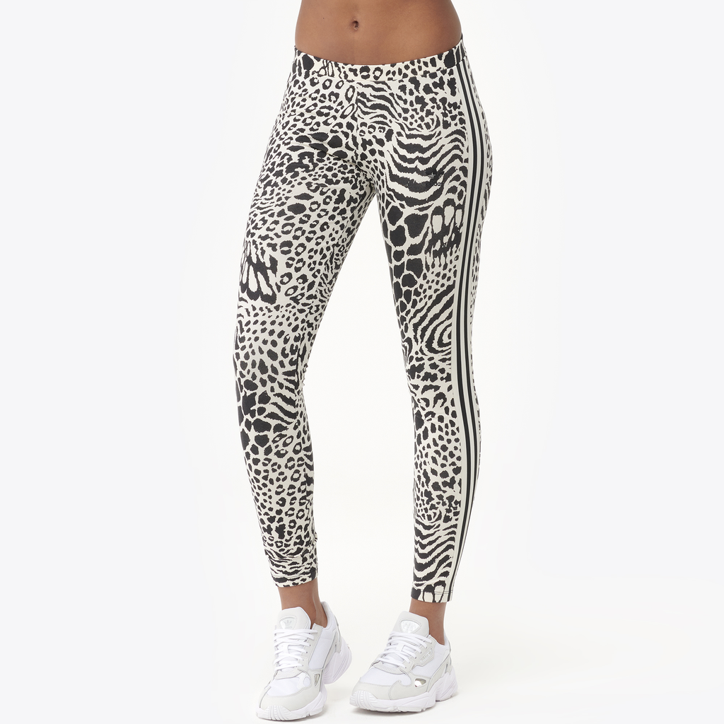 Adidas Originals Animal Print 3 Stripe Leggings by Foot Locker