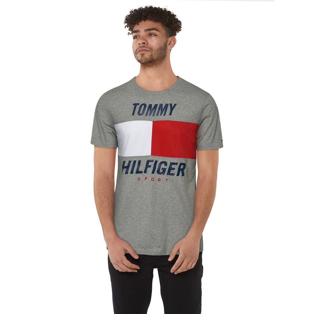 Tommy Hilfiger Ryan S/S Colorblock T-Shirt - Mens / Sport Grey Heather