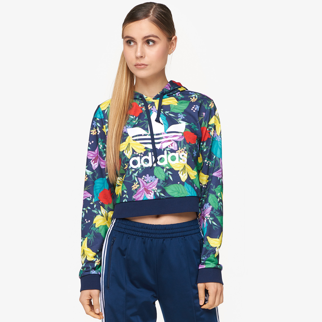 Adidas Originals Blossom Of Life Cropped Hoodie by Eastbay