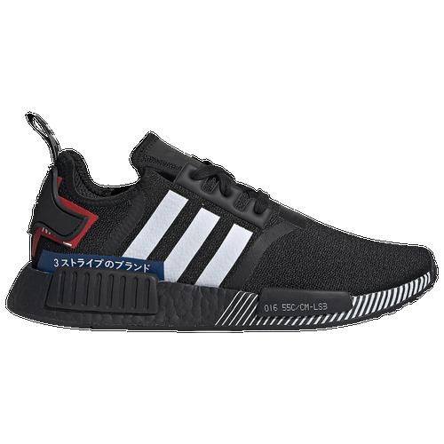 adidas Originals Mens adidas Originals NMD R1 - Mens Running Shoes Black/White/Lush Blue Size 10.0 - Common Ace