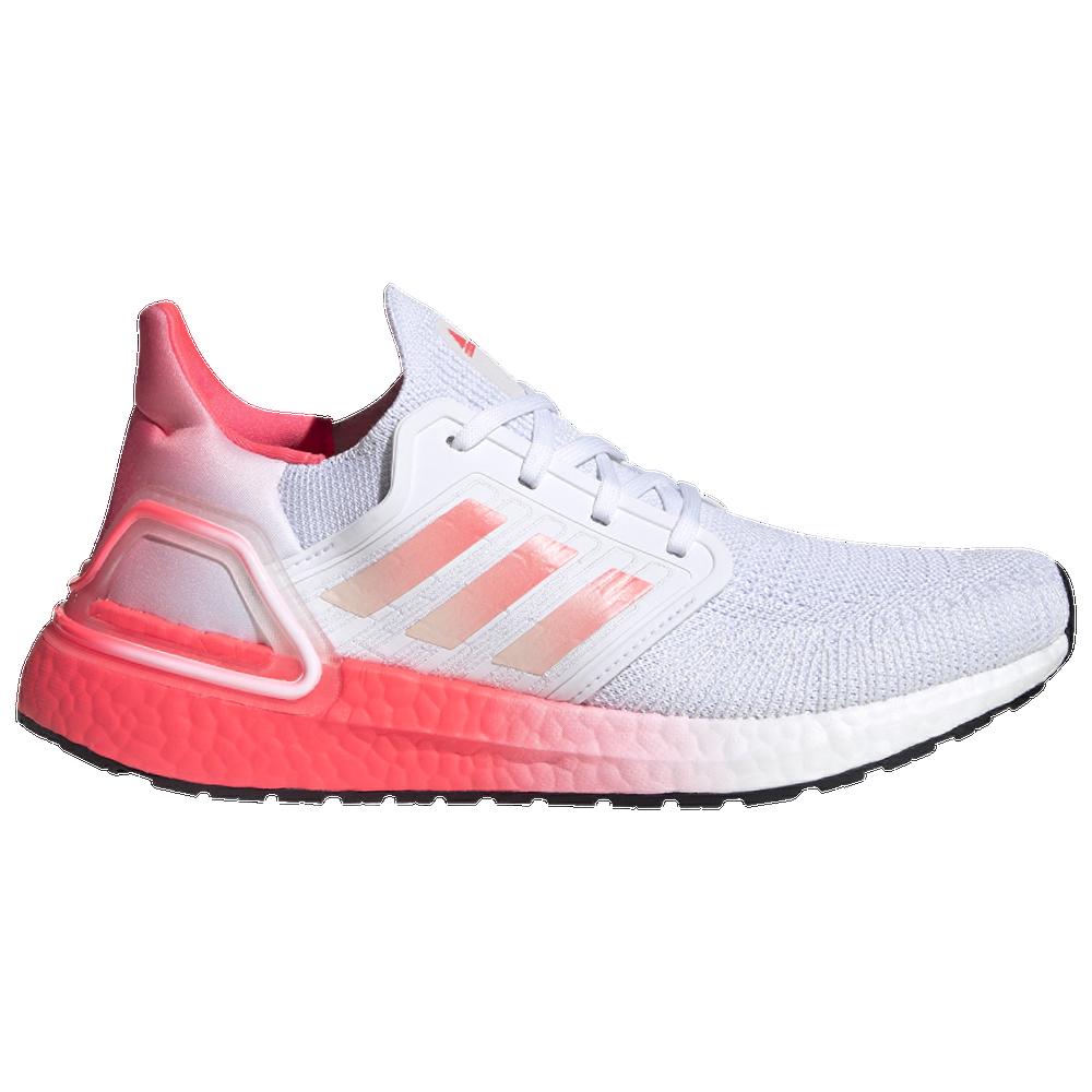 adidas Ultraboost 20 - Womens / White/Signal Pink/Signal Pink