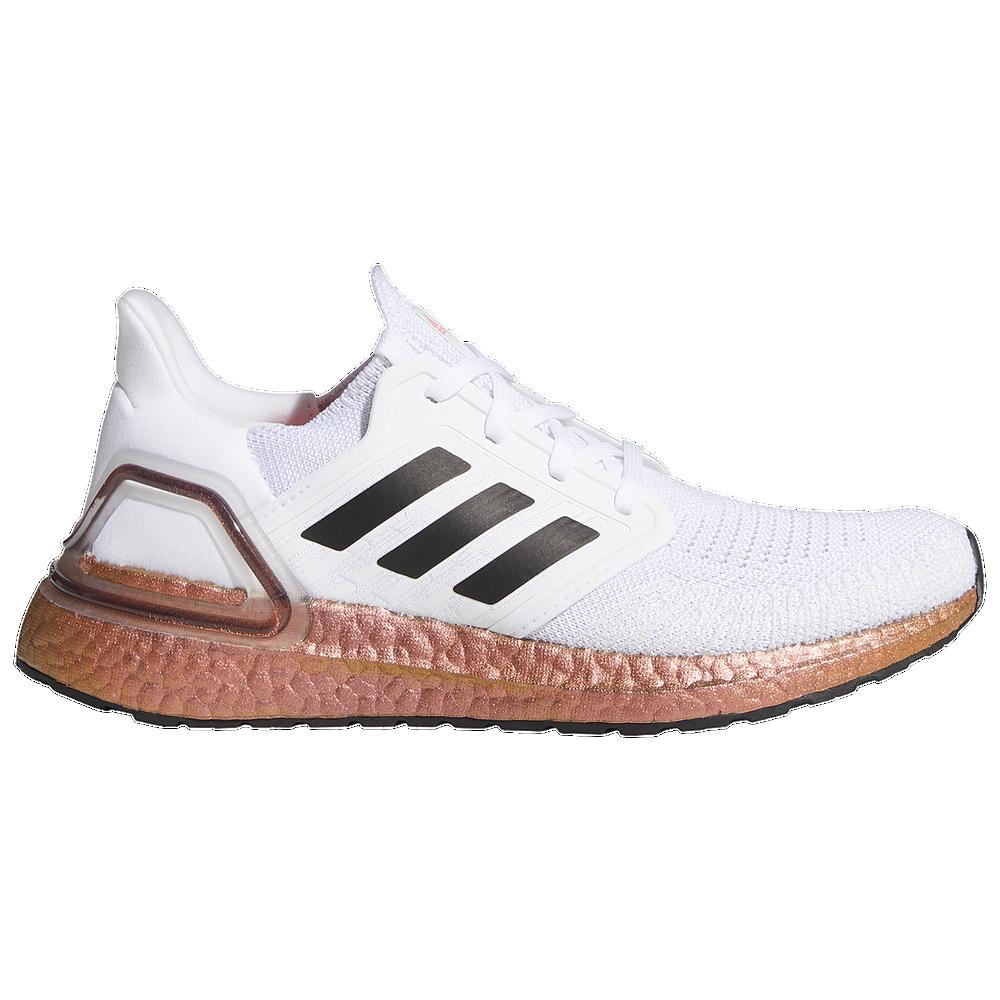 adidas Ultraboost 20 - Womens / White/Core Black/Signal Pink