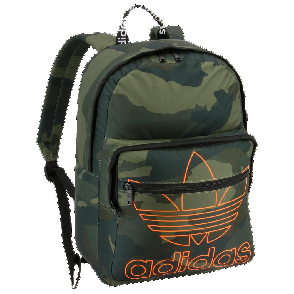 adidas Originals Trefoil Pocket Backpack / Adi Camo/Signal Orange