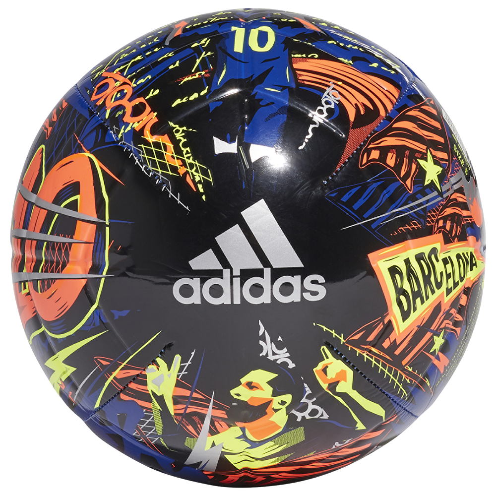 adidas Messi Club Soccer Ball / Team Royal/Black/Solar Yellow