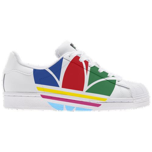 Boys adidas Originals adidas Originals Superstar - Boys' Grade School Shoe White/Red/Blue Size 03.5 - Common Ace