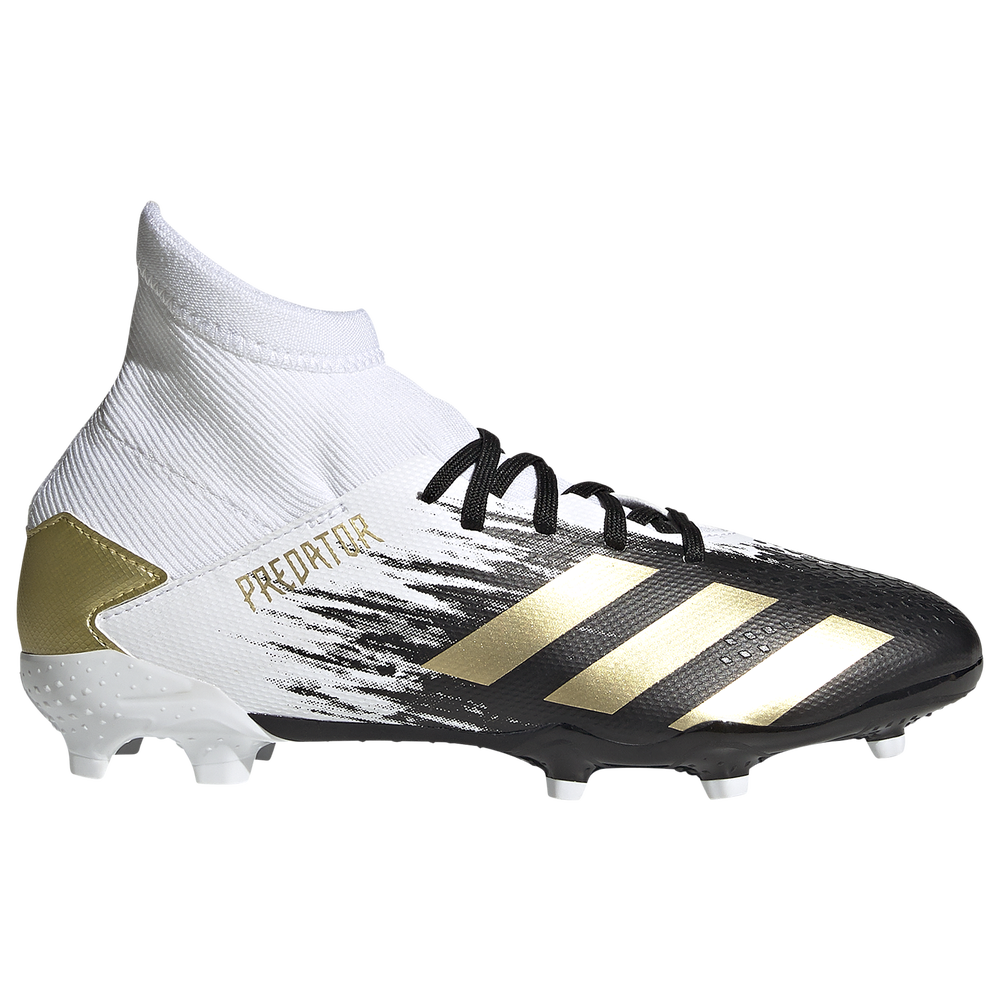 adidas Predator 20.3 FG - Boys Grade School / Ftwr White/Gold Metallic/Core Black